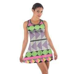 Shapes Patchwork Circle Triangle Cotton Racerback Dress