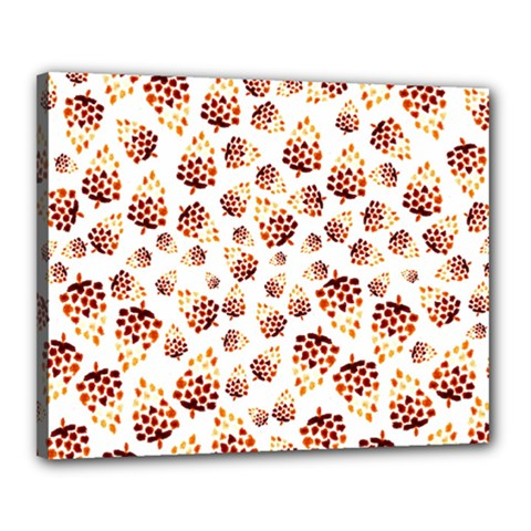 Pine Cones Pattern Canvas 20  X 16  by Mariart