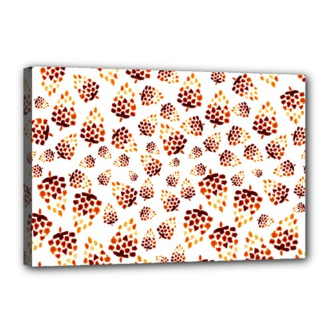 Pine Cones Pattern Canvas 18  X 12  by Mariart