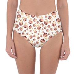 Pine Cones Pattern Reversible High Waist Bikini Bottoms by Mariart