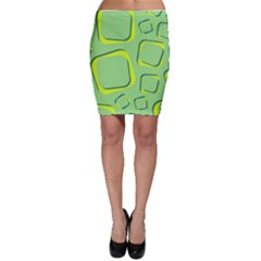 Shapes Green Lime Abstract Wallpaper Bodycon Skirt by Mariart