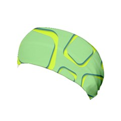 Shapes Green Lime Abstract Wallpaper Yoga Headband