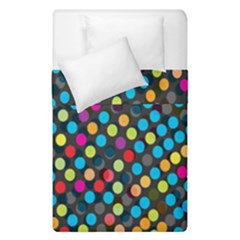 Polkadot Rainbow Colorful Polka Circle Line Light Duvet Cover Double Side (single Size)