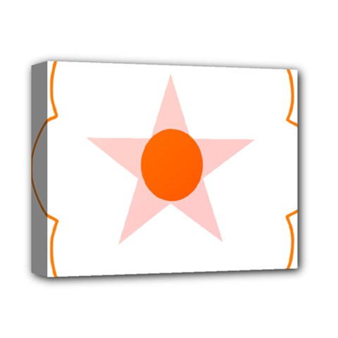 Test Flower Star Circle Orange Deluxe Canvas 14  X 11  by Mariart
