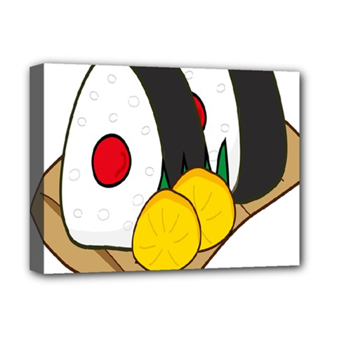 Sushi Food Japans Deluxe Canvas 16  X 12   by Mariart