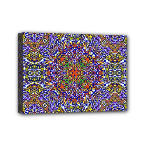 Oriental Pattern 01a Mini Canvas 7  X 5  by MoreColorsinLife