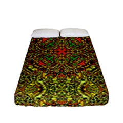 Oriental Pattern 01b Fitted Sheet (full/ Double Size) by MoreColorsinLife