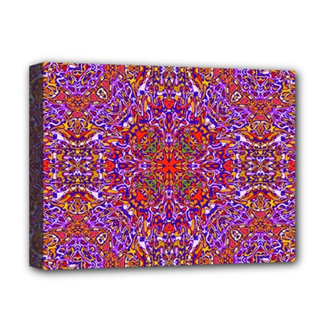 Oriental Pattern 01c Deluxe Canvas 16  X 12   by MoreColorsinLife