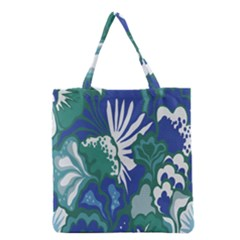 Tropics Leaf Bluegreen Grocery Tote Bag by Mariart