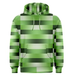 View Original Pinstripes Green Shapes Shades Men s Pullover Hoodie by Mariart