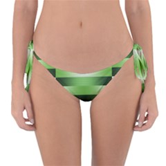 View Original Pinstripes Green Shapes Shades Reversible Bikini Bottom by Mariart