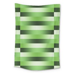 View Original Pinstripes Green Shapes Shades Large Tapestry by Mariart