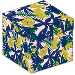 Tropics Leaf Yellow Green Blue Storage Stool 12   by Mariart
