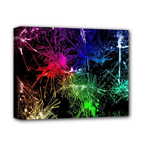 Color Fun 03b Deluxe Canvas 14  X 11  by MoreColorsinLife