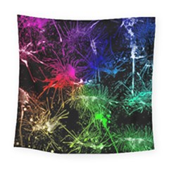 Color Fun 03b Square Tapestry (large) by MoreColorsinLife