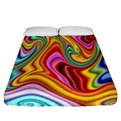 Rainbow Gnarls Fitted Sheet (queen Size) by WolfepawFractals
