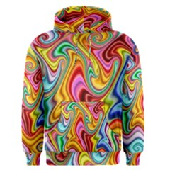 Rainbow Gnarls Men s Pullover Hoodie by WolfepawFractals