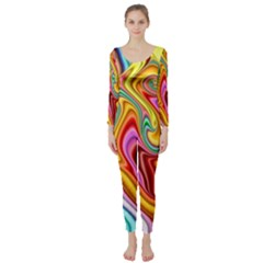 Rainbow Gnarls Long Sleeve Catsuit by WolfepawFractals