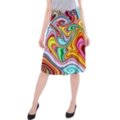 Rainbow Gnarls Midi Beach Skirt