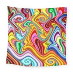 Rainbow Gnarls Square Tapestry (large) by WolfepawFractals