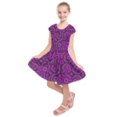 Broken Pattern B Kids  Short Sleeve Dress by MoreColorsinLife