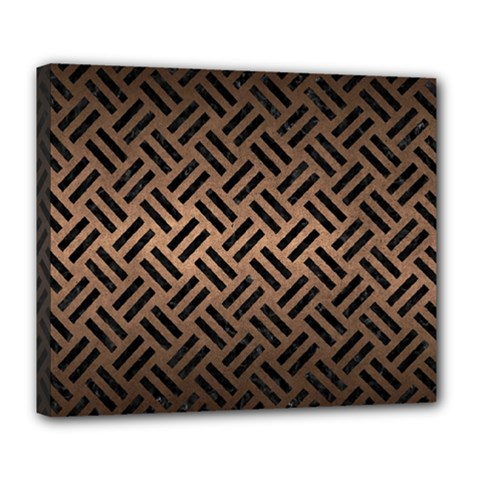 Woven2 Black Marble & Bronze Metal (r) Deluxe Canvas 24  X 20  (stretched) by trendistuff
