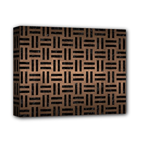 Woven1 Black Marble & Bronze Metal (r) Deluxe Canvas 14  X 11  (stretched) by trendistuff