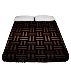 Woven1 Black Marble & Bronze Metal Fitted Sheet (california King Size) by trendistuff