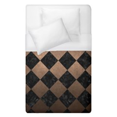 Square2 Black Marble & Bronze Metal Duvet Cover (single Size) by trendistuff