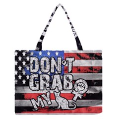 Dont Grab My Medium Zipper Tote Bag by Valentinaart