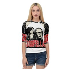 Goodfellas Putin And Trump Quarter Sleeve Tee by Valentinaart