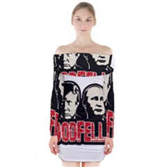 Goodfellas Putin And Trump Long Sleeve Off Shoulder Dress