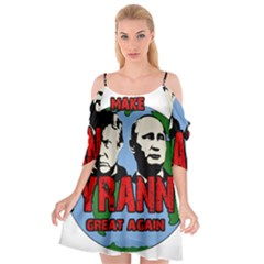 Make Tyranny Great Again Cutout Spaghetti Strap Chiffon Dress