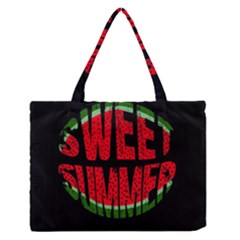 Watermelon - Sweet Summer Medium Zipper Tote Bag by Valentinaart