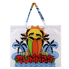 Tropical Summer Zipper Large Tote Bag by Valentinaart