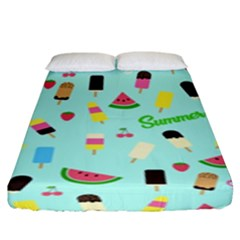 Summer Pattern Fitted Sheet (king Size) by Valentinaart