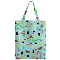Summer Pattern Zipper Classic Tote Bag by Valentinaart