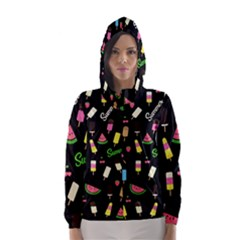 Summer Pattern Hooded Wind Breaker (women) by Valentinaart