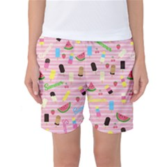 Summer Pattern Women s Basketball Shorts by Valentinaart