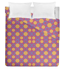 Colorful Geometric Polka Print Duvet Cover Double Side (queen Size)