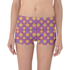 Colorful Geometric Polka Print Reversible Boyleg Bikini Bottoms by dflcprintsclothing