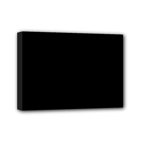 Simply Black Mini Canvas 7  X 5  by SimplyColor