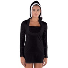 Simply Black Women s Long Sleeve Hooded T Shirt