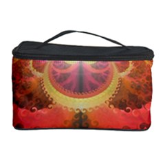 Liquid Sunset, A Beautiful Fractal Burst Of Fiery Colors Cosmetic Storage Case by jayaprime