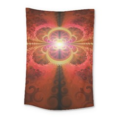 Liquid Sunset, A Beautiful Fractal Burst Of Fiery Colors Small Tapestry