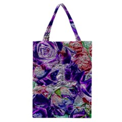 Floral Chrome 01a Classic Tote Bag by MoreColorsinLife