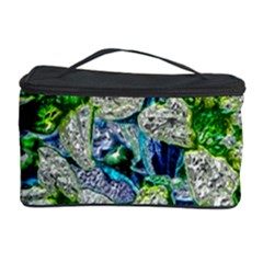Floral Chrome 2a Cosmetic Storage Case by MoreColorsinLife