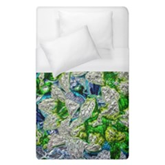 Floral Chrome 2a Duvet Cover (single Size) by MoreColorsinLife