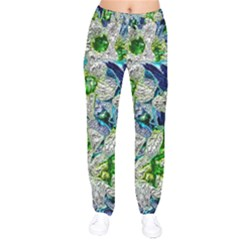 Floral Chrome 2a Drawstring Pants by MoreColorsinLife