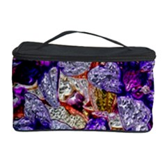 Floral Chrome 2b Cosmetic Storage Case by MoreColorsinLife